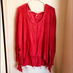 ❤️NEW LISTING❤️ Free People distressed thermal OS